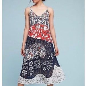 NWT Anthropologie+Maeve Isa Floral Pleated Dress